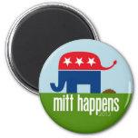 Mitt Happens - Funny Romney Election 2012 Fridge Magnet
