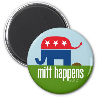 Mitt Happens - Funny Romney Election 2012 2 Inch Round Magnet