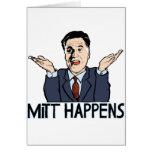 Mitt Happens Greeting Card