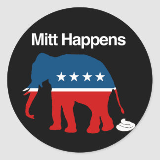 MITT HAPPENS -.png Classic Round Sticker