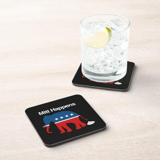 MITT HAPPENS -.png Drink Coasters