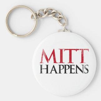 Mitt Happens.png Basic Round Button Keychain