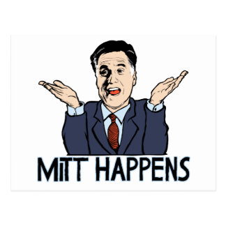 Mitt Happens Postcard