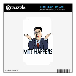 Mitt Happens Decal For iPod Touch 4G