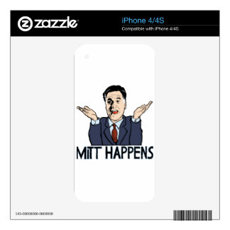 Mitt Happens Skins For iPhone 4
