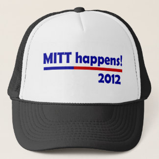 mitt happens trucker hat