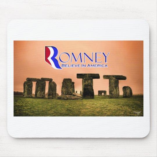 Mitt Henge - Romney, Believe in America Mouse Pad