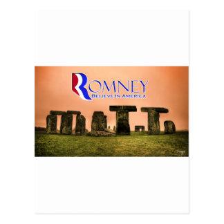 Mitt Henge - Romney, Believe in America Postcard