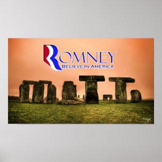 Mitt Henge - Romney: Believe in America Poster