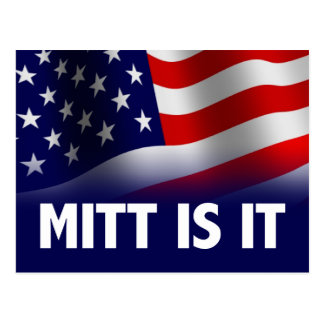 Mitt Is It - Romney Ryan 2012 Postcard