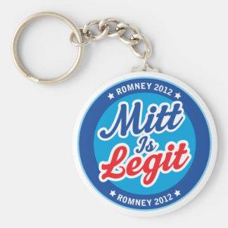 Mitt Is Legit Romney 2012 Keychain