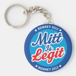 Mitt Is Legit Romney 2012 Key Chains