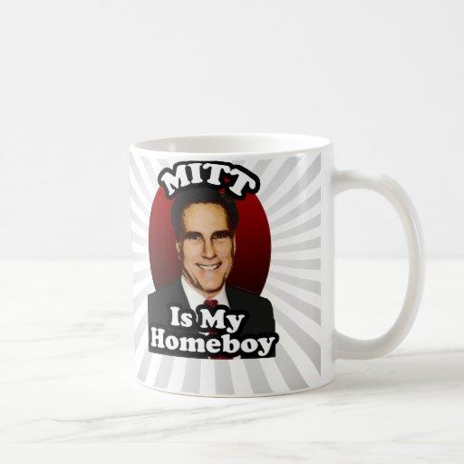 Mitt is My Homeboy, Funny Mitt Romney Cartoon Coffee Mug