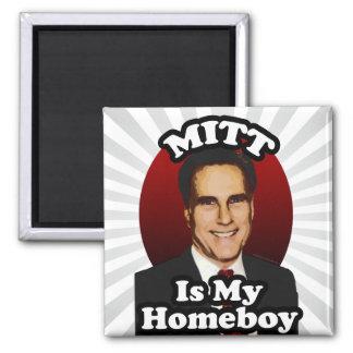 Mitt is My Homeboy Funny Mitt Romney Cartoon Refrigerator Magnets