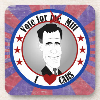 Mitt Loves Cars Cork Coaster