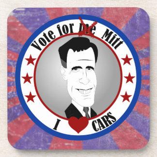 Mitt Loves Cars Cork Coaster