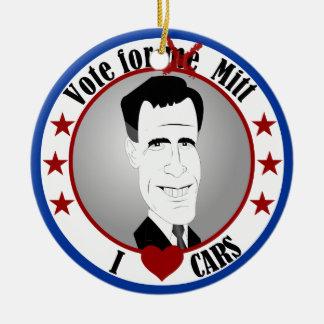 Mitt Loves Cars Ornament