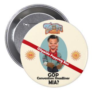 Mitt Puppet Pinback Button