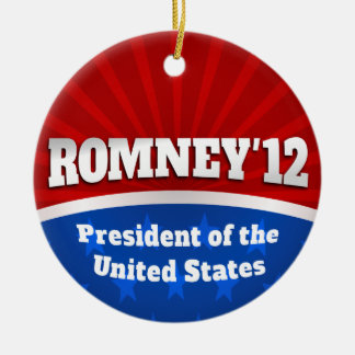 Mitt Romney '12 Double-Sided Ceramic Round Christmas Ornament