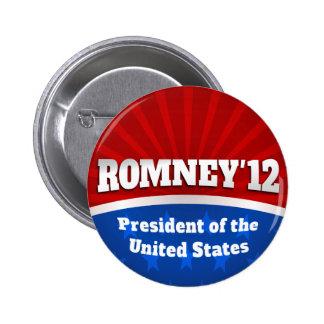 Mitt Romney '12 Pinback Button