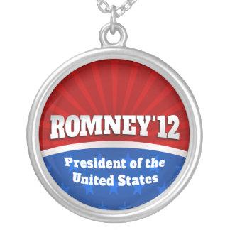Mitt Romney '12 Round Pendant Necklace