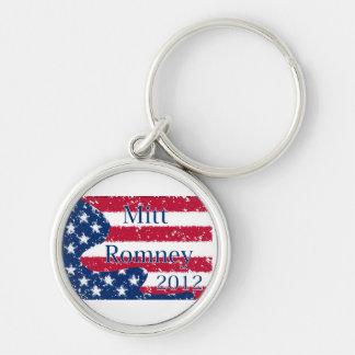 Mitt Romney 2012 Altered US Flag Keychain