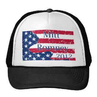 Mitt Romney 2012 Altered US Flag Trucker Hat