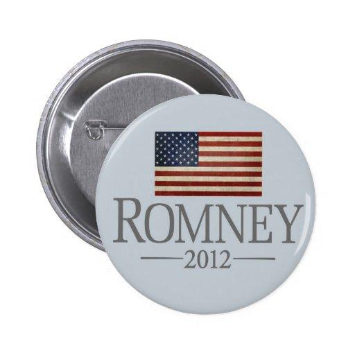 Mitt Romney 2012 - Bandera de los E.E.U.U. Pins