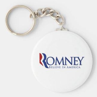 Mitt Romney 2012 Believe in America Keychain
