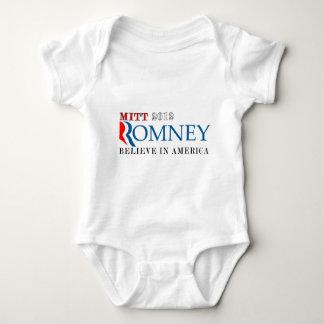 Mitt Romney 2012 Believe in America.png Baby Bodysuit