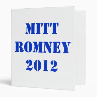 MITT ROMNEY 2012 VINYL BINDER