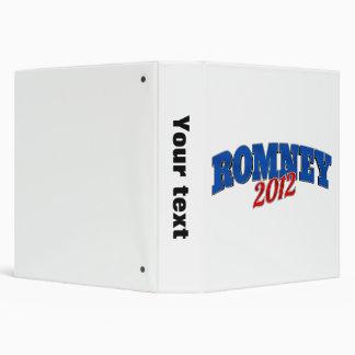 Mitt Romney 2012 3 Ring Binder