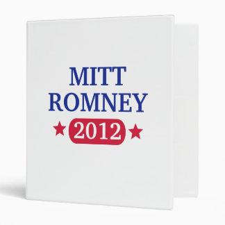 Mitt Romney 2012 3 Ring Binders