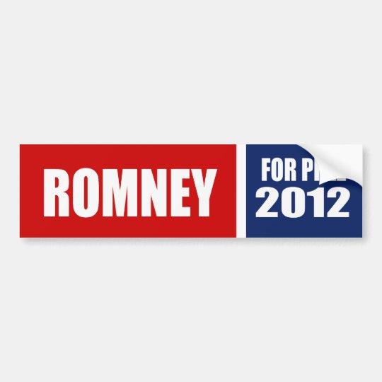 MITT ROMNEY 2012 BUMPER STICKER