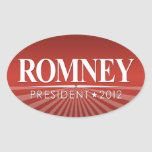 Mitt Romney 2012 Calcomania De Oval