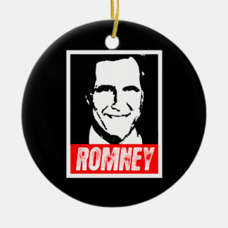 MITT ROMNEY 2012 Double-Sided CERAMIC ROUND CHRISTMAS ORNAMENT