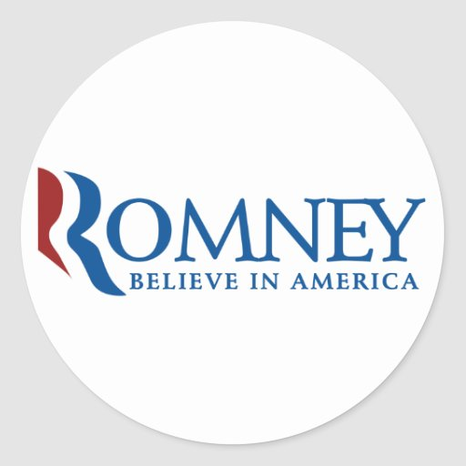 Mitt Romney 2012 Etiqueta Redonda