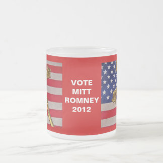 Mitt Romney 2012 Flag and Crucifix Mug