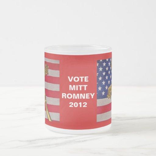 Mitt Romney 2012 Flag and Crucifix Mug