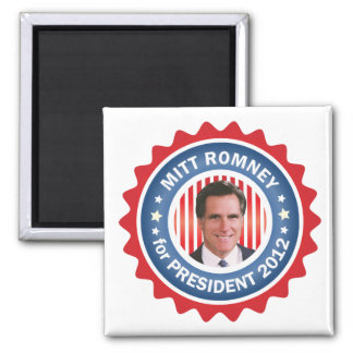 Mitt Romney 2012 for US President 2 Inch Square Magnet