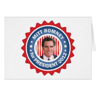 Mitt Romney 2012 for US President Card
