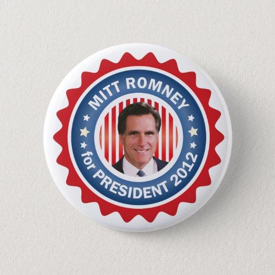 Mitt Romney 2012 for US President Pinback Button