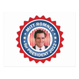 Mitt Romney 2012 for US President Post Cards