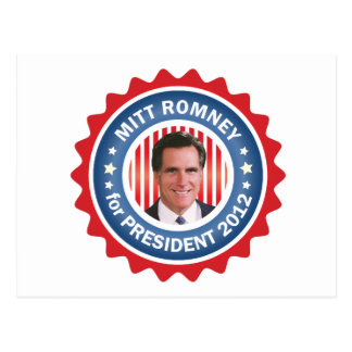 Mitt Romney 2012 for US President Postcard