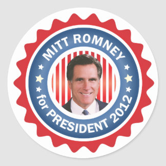 Mitt Romney 2012 for US President Classic Round Sticker