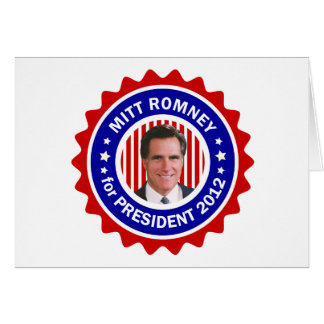 Mitt Romney 2012 Greeting Cards