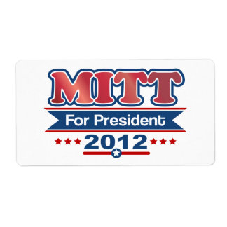 Mitt Romney 2012 Personalized Shipping Label