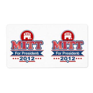Mitt Romney 2012 Custom Shipping Labels