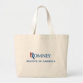 Mitt Romney 2012 Large Tote Bag