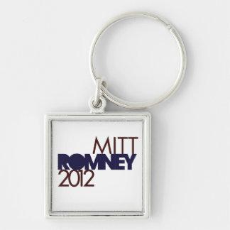Mitt Romney 2012 Llavero Cuadrado Plateado